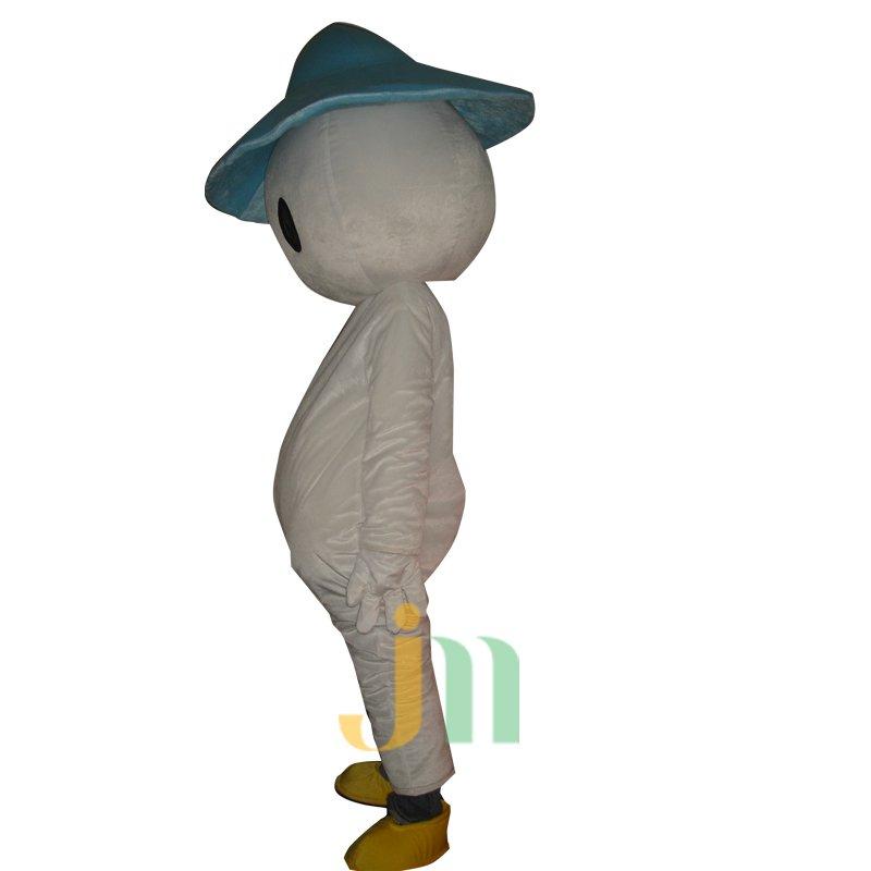Cartoon Doll Cartoon Snowman Blue Wool Clothing Walking Doll Hedging Blue Hat Snowman Mascot Costume