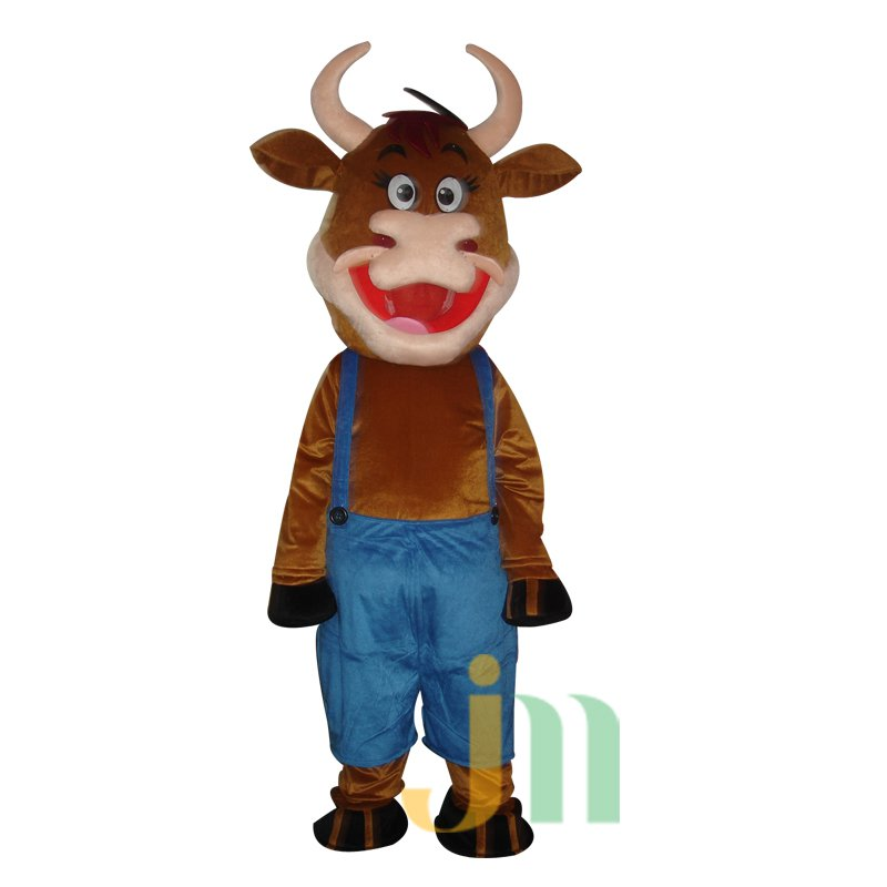 Cartoon Mouth Cow Walking Doll Doll Cartoon Clothing Suits Big Mouth Cow Puppet Mascot Costume