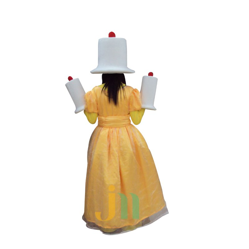 Doll Cartoon Clothing Cartoon Candle People Walking Doll Hedging Candle People Mascot Costume