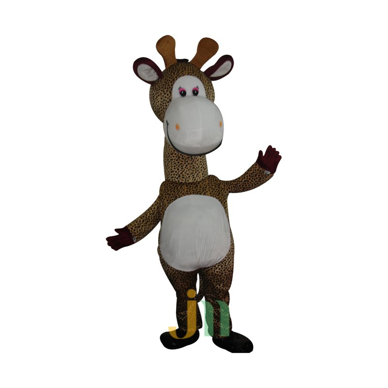 Doll Cartoon Clothing Cartoon Giraffe Head Giraffe Walking Doll Sets Mascot Costume