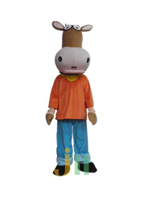 Mini Cow Cartoon Doll Cartoon Walking Doll Clothing Doll Kit Mini Cow Mascot Costume