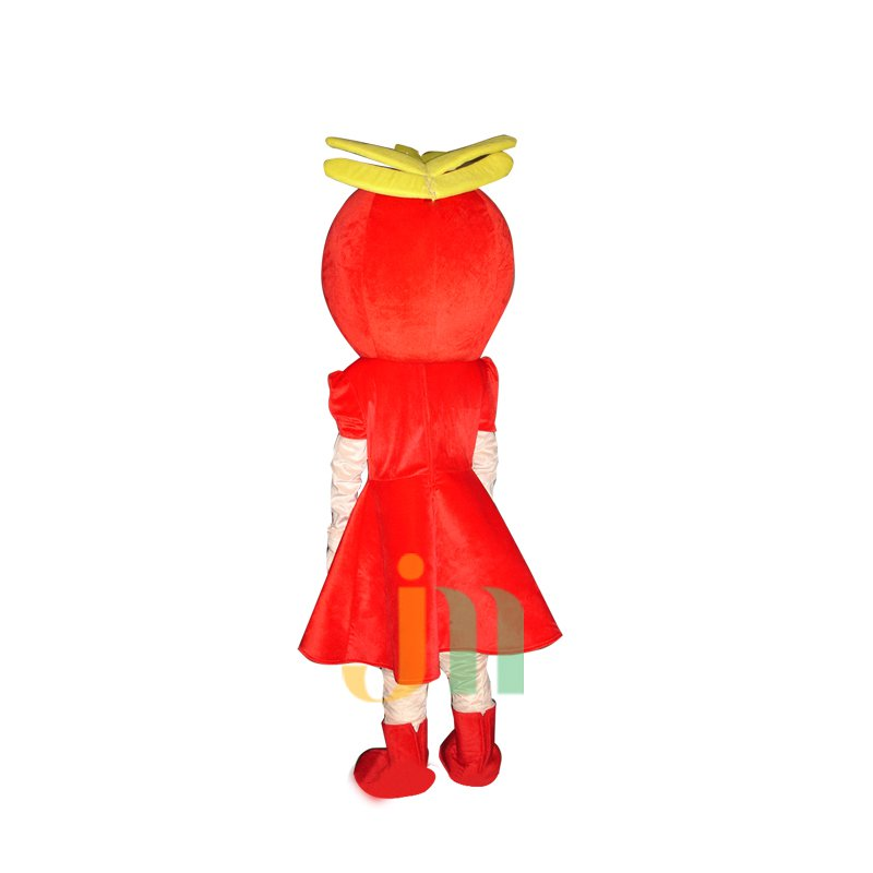 Red Girl Doll Cartoon Clothing Cartoon Walking Doll Hedging Red Girl Mascot Costume