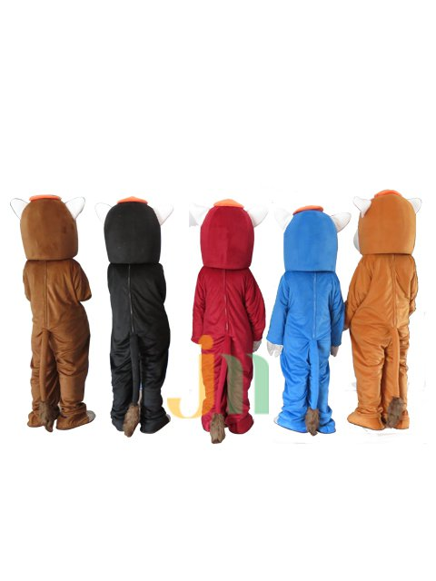 Red and Blue Light Brown Dark Brown Horse Walking Doll Doll Cartoon Clothing Sets Red and Blue Light Brown Dark Brown Horse Head Mascot Costume