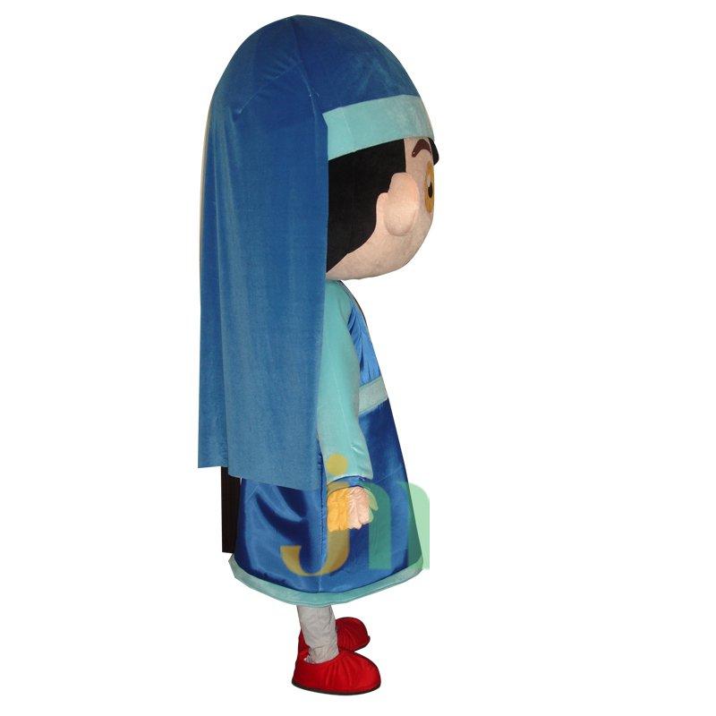 Rok Girl Doll Clothing Cartoon Walking Doll Cartoon Girl Hedging Rok Mascot Costume