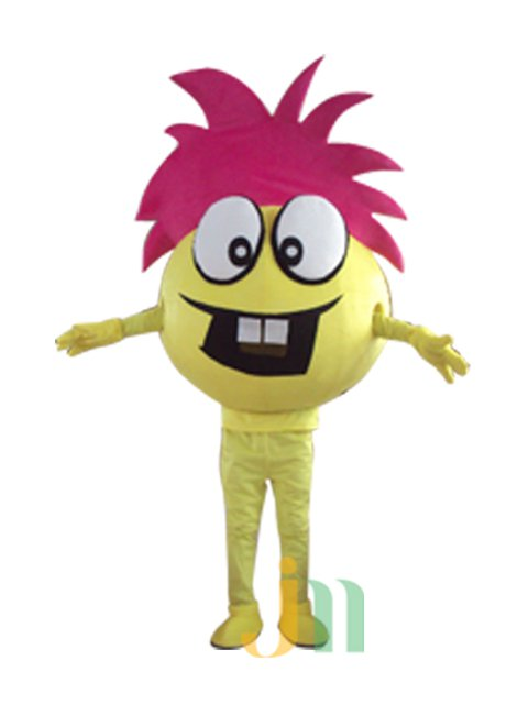 Cartoon Doll Clothing Walking Hedging Lucky Baby Doll Clothing Decoration Yellow Ball Animation Activities Mascot Costume