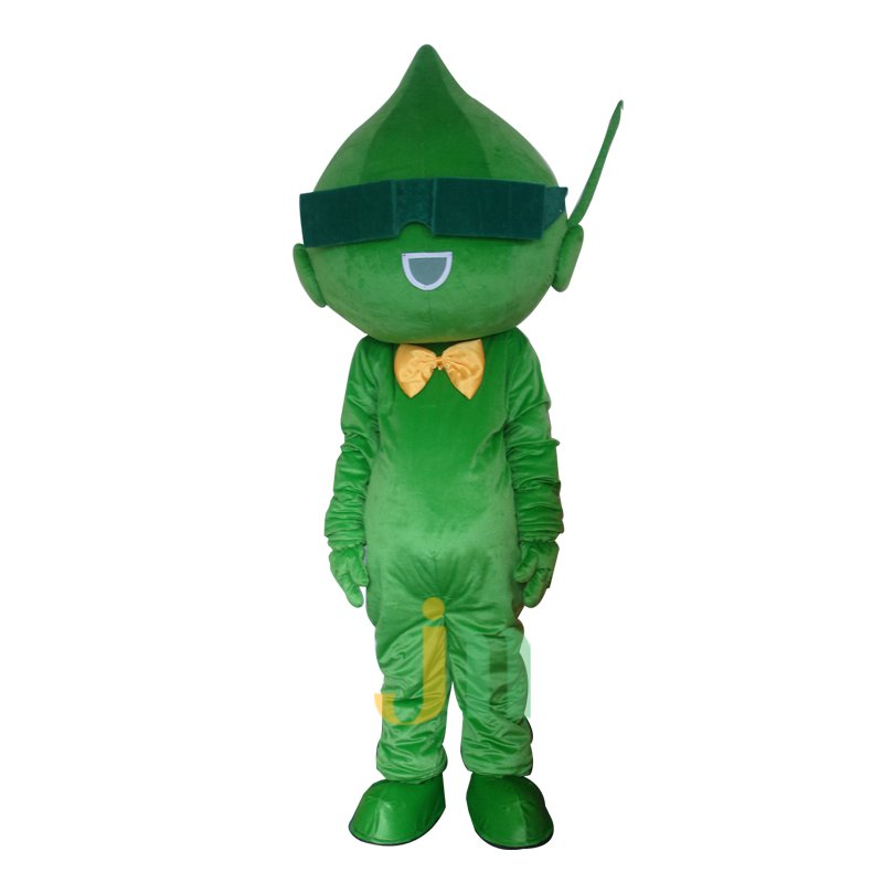 Cartoon Green and Pleasant Walking Doll Doll Cartoon Clothing Sets Head Green Keren Mascot Costume