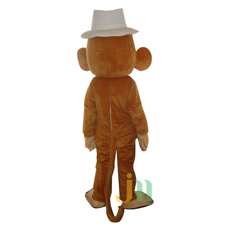Cartoon Monkey Doll with Big Ears Walking Doll Cartoon Clothing Set Monkey Head and Big Ears Mascot Costume
