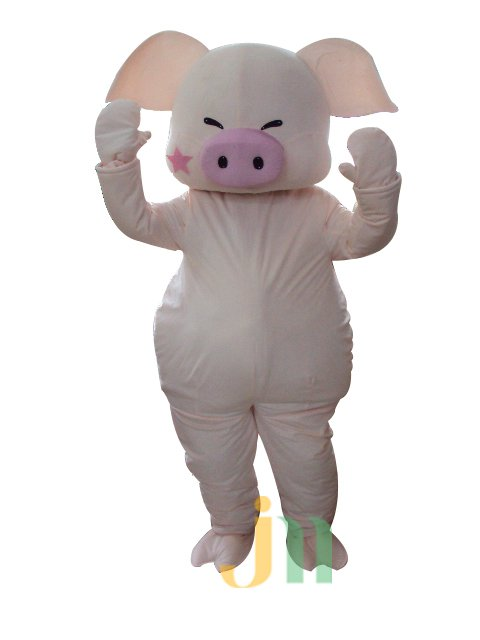 Cartoon Pink Pig Doll Cartoon Walking Doll Clothing Hedging Pink Pig Dolls Mascot Costume