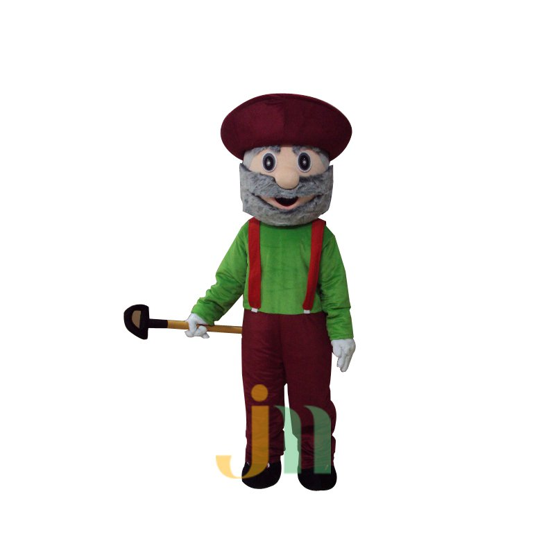 Gold Miner Doll Cartoon Clothing Cartoon Walking Doll Hedging Gold Miners Mascot Costume