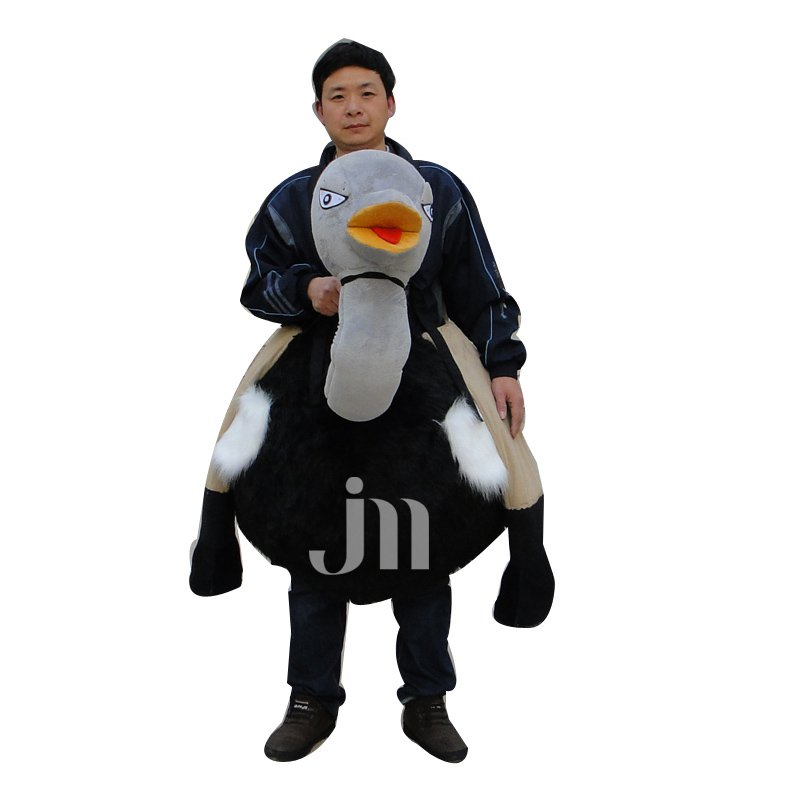 Idiotic Cartoon Ostrich Ostrich Riding Dolls Clothing Walking Hedging Welcome Mascot Costume