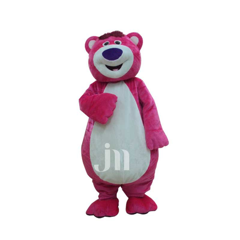 Pink Bear Cartoon Doll Cartoon Walking Doll Clothing Hedging Pink Bear Mascot Costume
