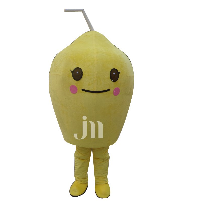 Stay Cute Cartoon Lemon Yellow Lemon Sleeveless Clothing Sets Head Dolls Can Walk Mascot Costume