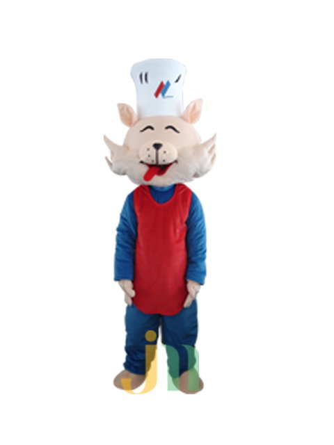 Cartoon Doll Clothing Walking Hedging Great God Chef Cat Costume Decorative Doll Animation Activities Mascot Costume