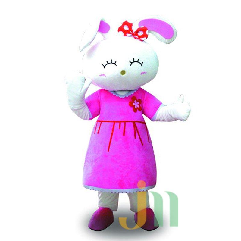 Cartoon Happy Rabbit Doll Cartoon Walking Doll Clothing Hedging Happy Rabbit Mascot Costume