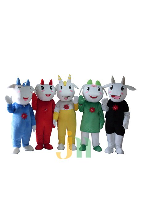 Cartoon Old Wuyang Yellow Blue Black Green Red Dolls Cartoon Clothing Walking Doll Sets Mascot Costume