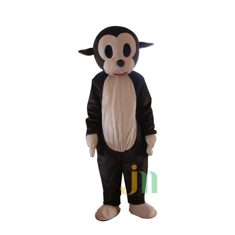 Dark Brown Monkey Jumping Doll Cartoon Walking Doll Clothing Hedging Dark Brown Monkey Jumping Mascot Costume