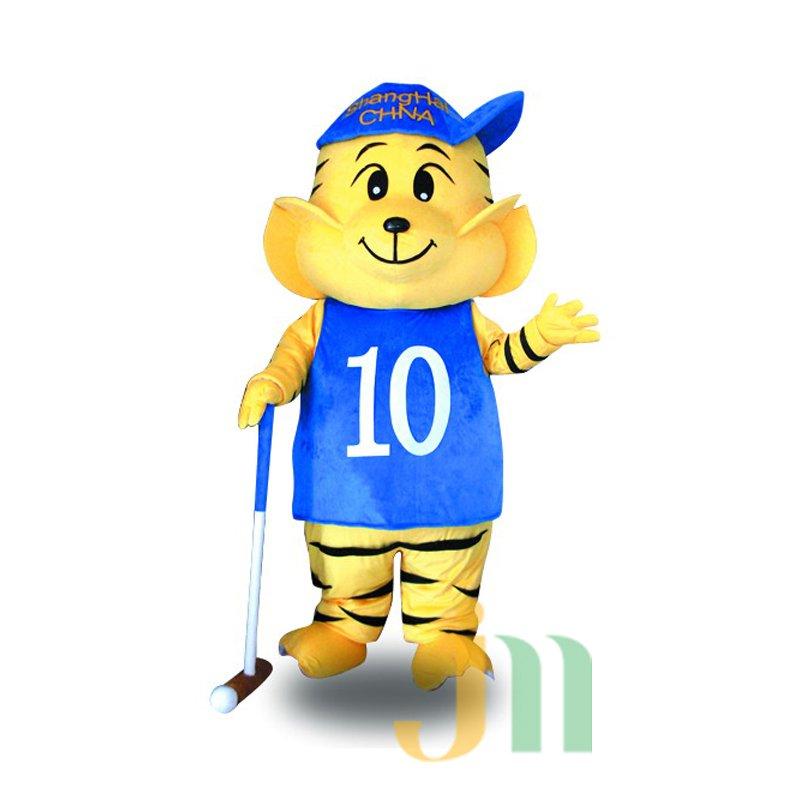Even Tiger Baseball Cartoon Man Cartoon Walking Doll Clothing Baseball Tiger Male Ferrule Mascot Costume