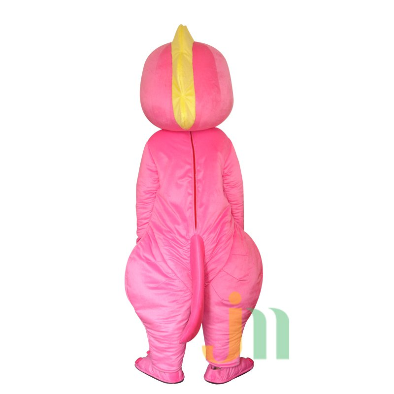 Pink Dragon Cartoon Doll Cartoon Walking Doll Clothing Hedging Pink Dragon Mascot Costume