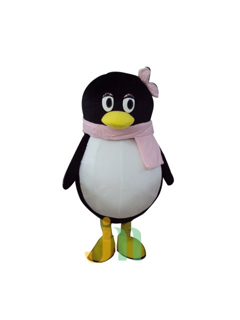 Qq Penguin Cartoon Lovely Woman Even Walking Doll Cartoon Clothing Sets of Female Penguin Qq Mascot Costume