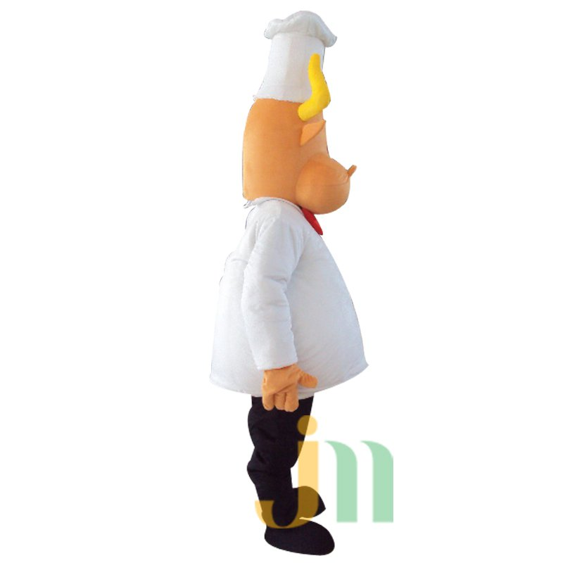 Cartoon Chef Walking Doll Clothing Doll Cartoon Cow Suit Chef Cow Puppet Mascot Costume