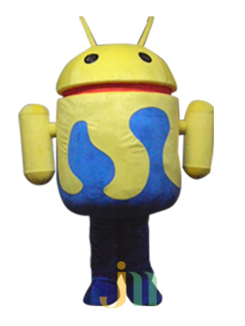 Cartoon Doll Clothing Cartoon Version of A Robot Walking Hedging Animation Activities Decorative Doll Clothing Mascot Costume