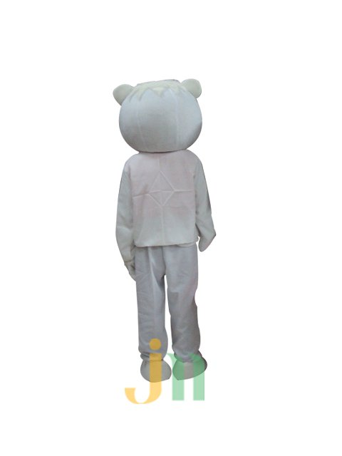 Cartoon Doll Clothing Walking Hedging Auspicious Kt Collarless White Male Activities Mascot Costume