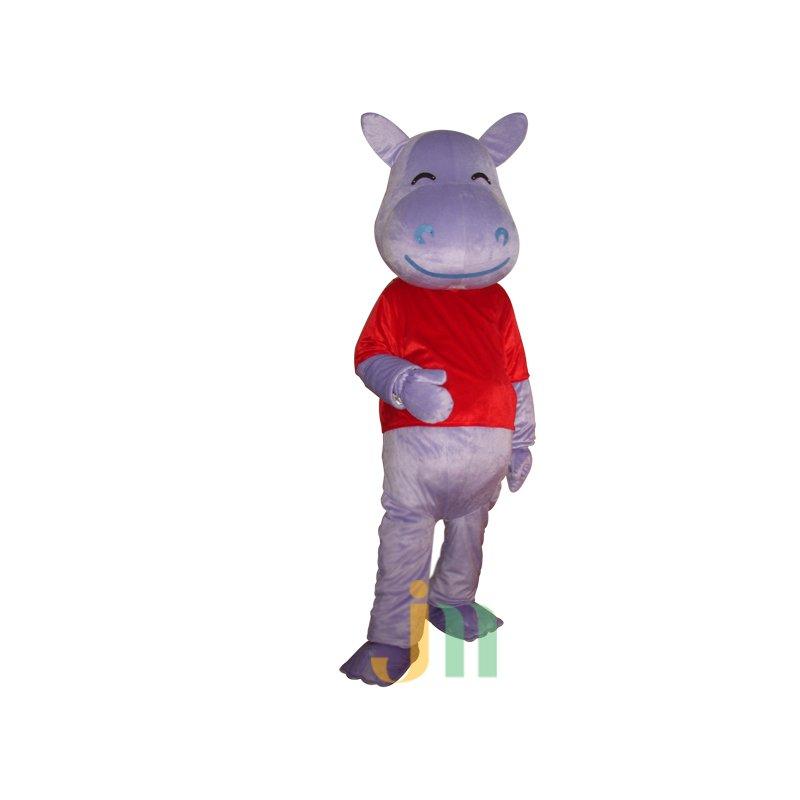 Purple Hippo Cartoon Doll Cartoon Walking Doll Clothing Hedging Purple Hippo Mascot Costume