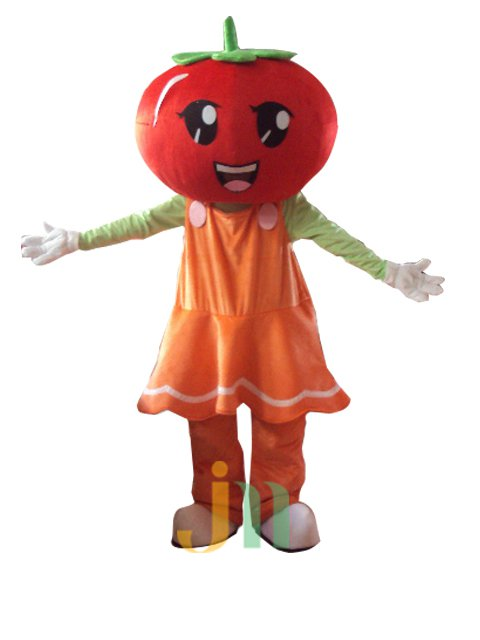 Colorful Cartoon Figures Tomato Fruit Female Cartoon Walking Doll Clothing Hedging Tomato Woman Even Mascot Costume