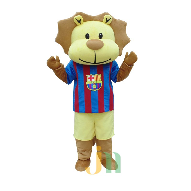 Lions Football Cartoon Walking Doll Cartoon Clothing Sets Even Soccer Lion Dolls Mascot Costume