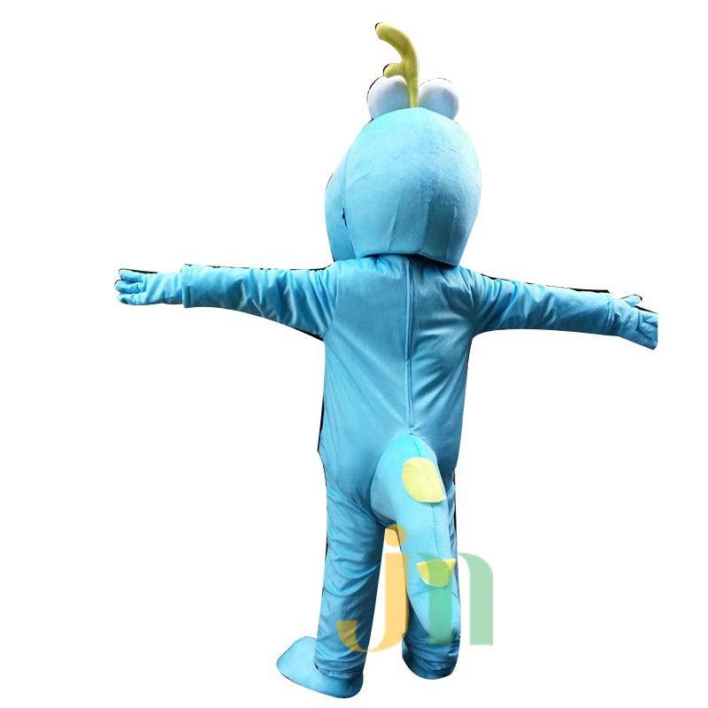 Long Yellow and Blue Cartoon Doll Cartoon Walking Doll Clothing Sets Head Yellow and Blue Dragon Mascot Costume
