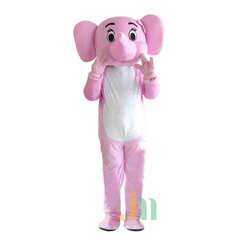 Cartoon Pink Elephant Doll Cartoon Walking Doll Clothing Hedging Pink Elephant Mascot Costume