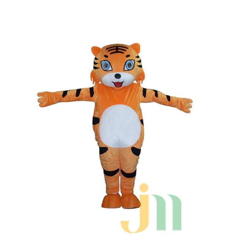 Even Cartoon Tiger Woman Walking Doll Cartoon Clothing Sets Head Tiger Female Mascot Costume