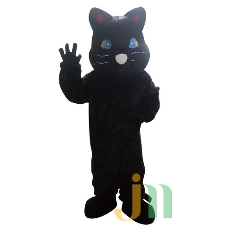 Big Black Cat Cartoon Doll Cartoon Walking Doll Clothing Hedging Big Black Cat Mascot Costume