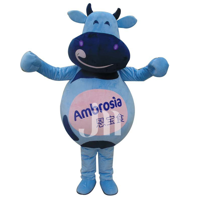 Cartoon Chinese Longling Cow Even Walking Doll Cartoon Clothing Sets Cute Cow Longling Mascot Costume