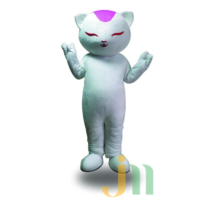 White Cat Cartoon Doll Cartoon Walking Doll Clothing Hedging White Mascot Costume