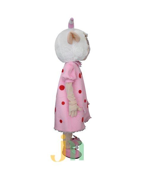 Card Straps Beautiful Sheep Doll Cartoon Walking Doll Clothing Doll Sets Mascot Costume