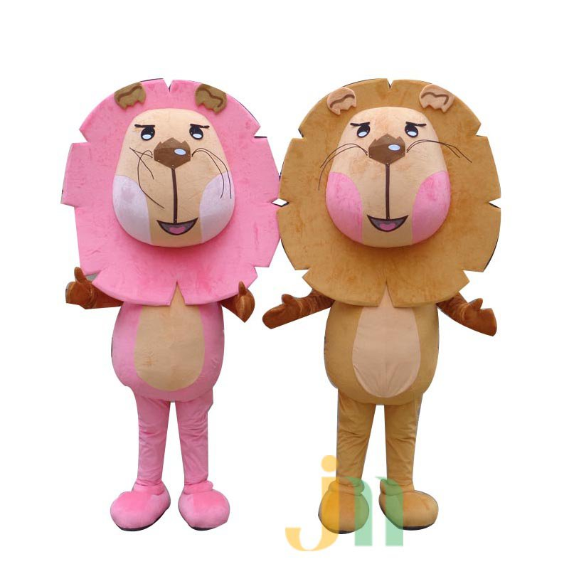 Cartoon Couple Walking Doll Clothing Doll Cartoon Lion Hedging Lion Lovers Mascot Costume