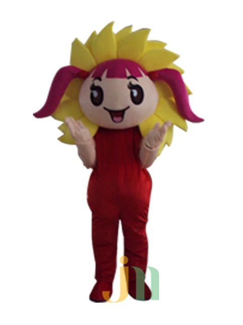 Cartoon Doll Clothing Walking Hedging Sunflower Girl Mascot Costume Decoration Even Animation Activities