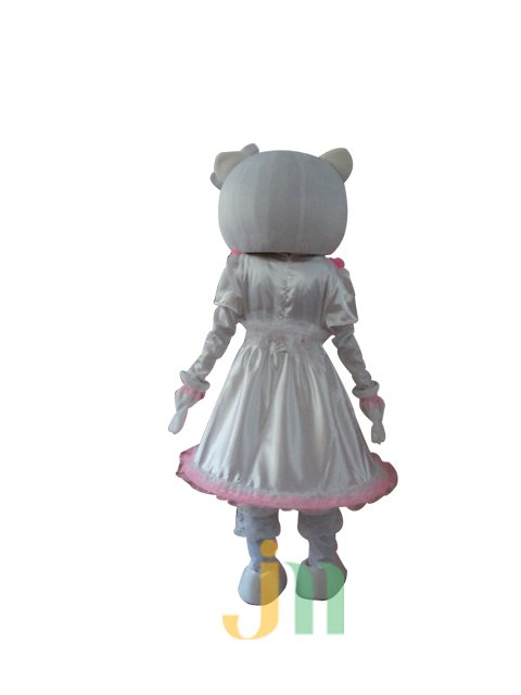 Cartoon Mascot Costume Dolls Walking Hedging Kt White Female Activity