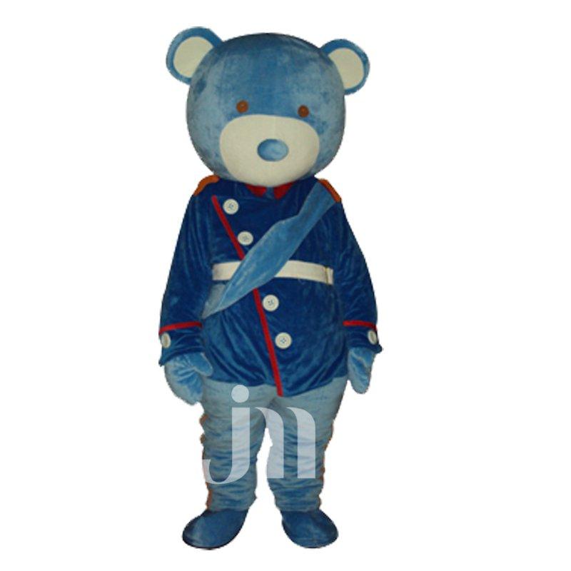 Cute Cartoon Blue Bear Doll Cartoon Walking Doll Clothing Sets Lovely Blue Bear Mascot Costume