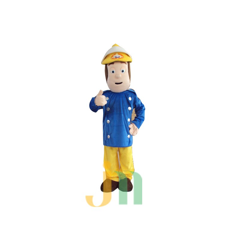 Doll Cartoon Clothing Cartoon Walking Doll Firefighters Hedging Firemen Mascot Costume