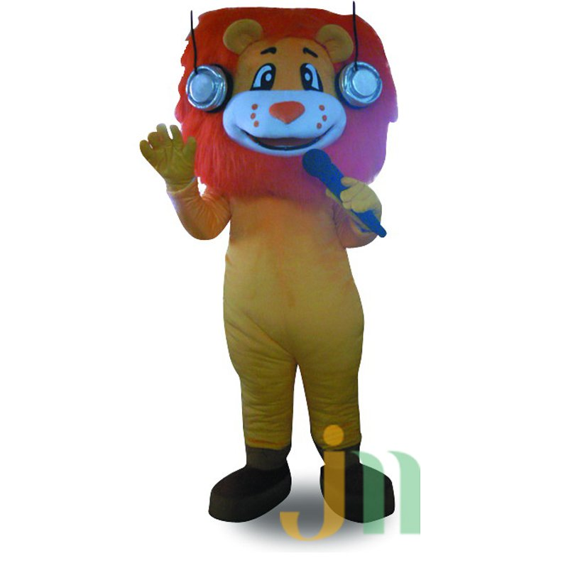 Singing Doll Cartoon Clothing Cartoon Lion Walking Doll Hedging Singing Lion Mascot Costume