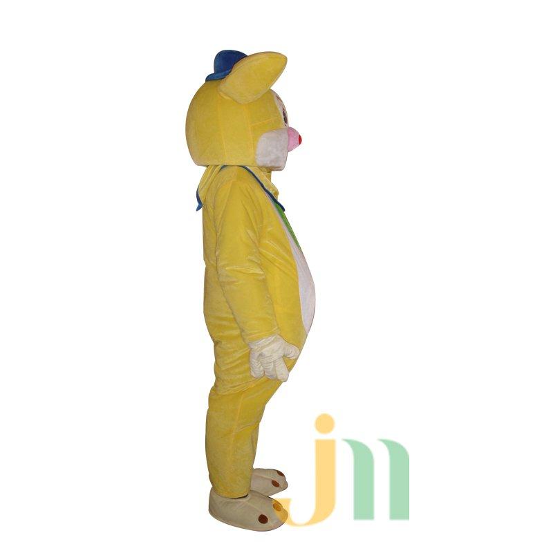 Yellow Rabbit Cartoon Doll Cartoon Walking Doll Clothing Hedging Yellow Rabbit Mascot Costume