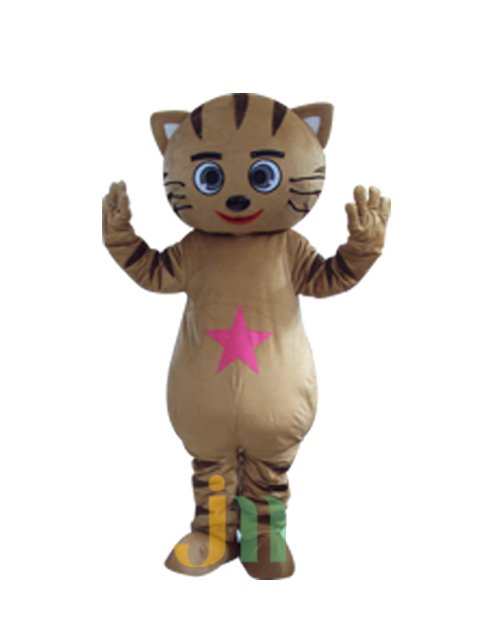 Cartoon Doll Clothing Walking Hedging Brown Cat Doll Clothing Decoration Star Star Cat Animation Activities Mascot Costume