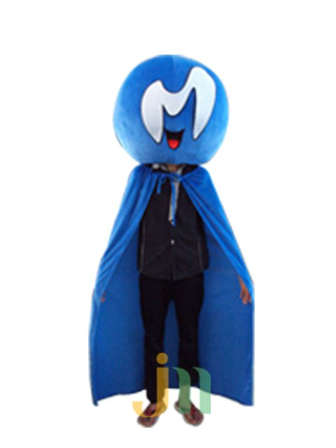 Cartoon Doll Clothing Walking Hedging Mascot Costume Suit Iraqis Blue Decorative Animation Activities