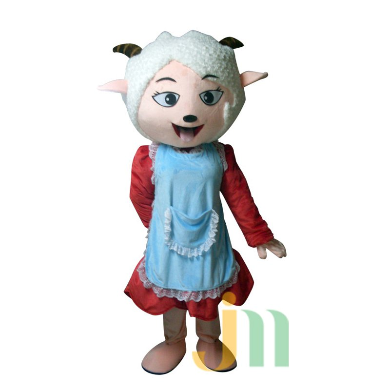 Doll Cartoon Clothing Cartoon Sheep Aprons Hedging Aprons Sheep Walking Doll Mascot Costume
