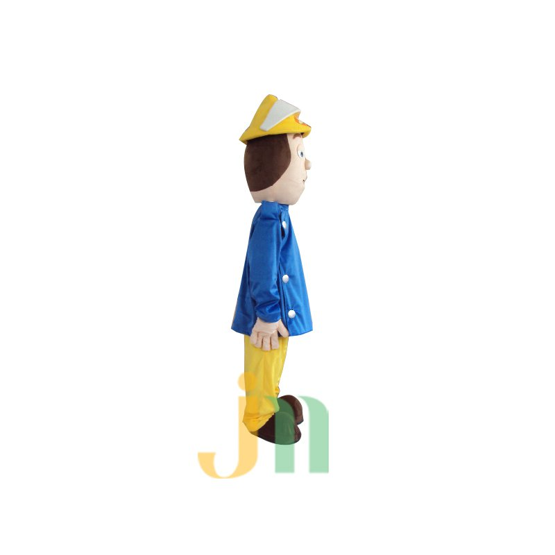 Doll Cartoon Clothing Cartoon Walking Doll Firefighters Hedging Firemen Mascot Costume