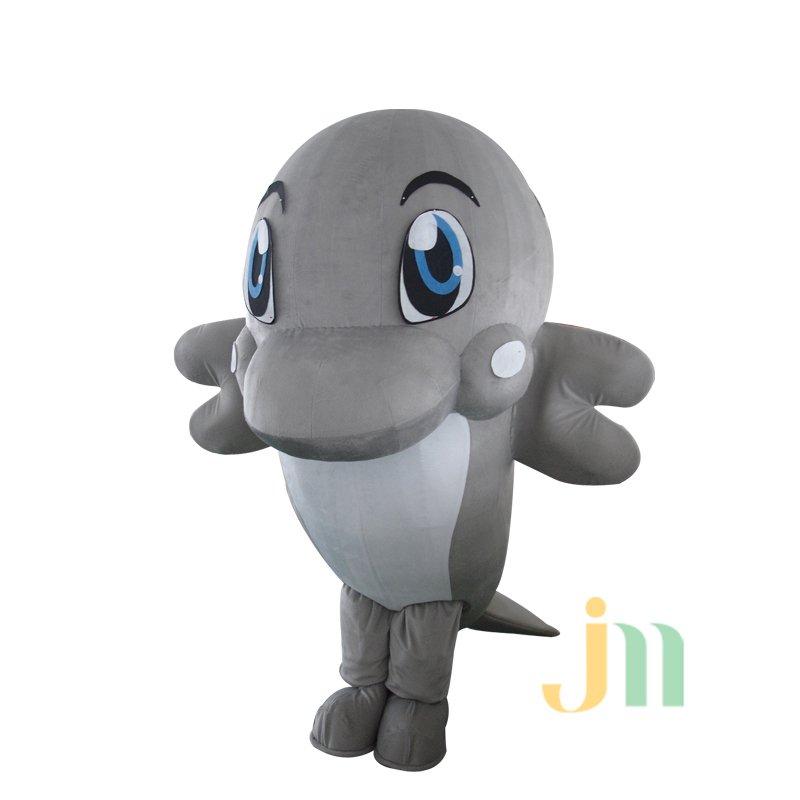 Dolphin Cartoon Doll Cartoon Walking Doll Clothing Doll Sets Dolphin Mascot Costume
