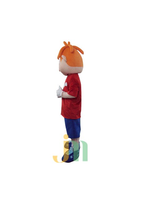 Lovely Cartoon Red Nose Clown Doll Cartoon Walking Doll Clothing Ferrule Red Clown Nose Mascot Costume