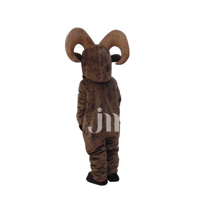 Majesty Handsome Cartoon Wheel Angle Black Goat Walking Hedging Doll Clothing Sheep Mascot Mascot Costume